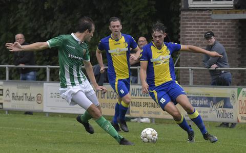 Momentopname uit het bekerduel tussen FC Meppel en d'Olde Veste'54 afgelopen zaterdag.
