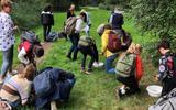 Technasium-leerlingen brengen een 'werkbezoek' aan het Paterswoldsemeer.