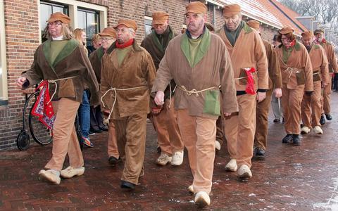 Bedelaars in Veenhuizen.