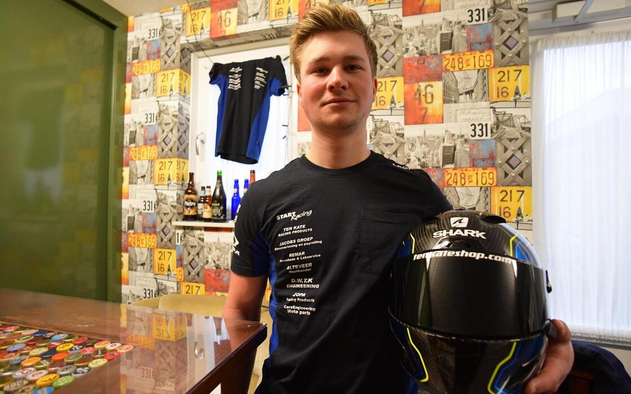 Motorcoureur Leon Stolte uit Nieuwleusen.