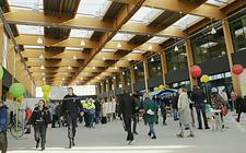 Passagiersterminal Lelystad Airport.