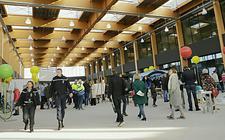 De passagiersterminal op Lelystad Airport.