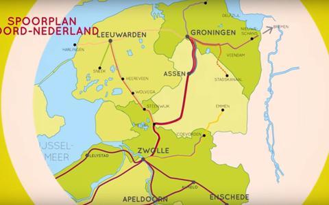 Spoorplan Noord Nederland
