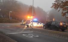 Het ongeval gebeurde op de rotonde Meppelerweg/Gagels in Steenwijk.