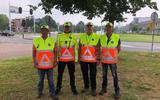 Van links naar rechts: Leon Kors, Richard Damhuis, Willem van Beek en Jan Akse.