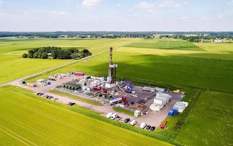 De gaswinninglocatie van Vermilion bij Eesveen.