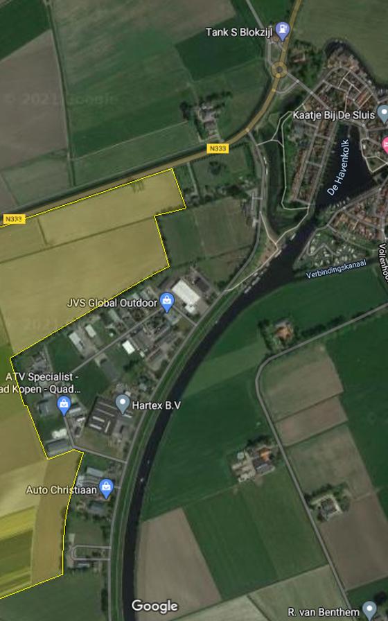 De driehoek tussen Ettenlandseweg, Kanaalweg en Marknesserweg