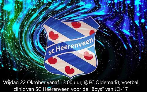 Twee jeugdtrainers van de Friese voetbalclub gaan op 22 oktober met de 16 jongens van FC Oldemarkt aan de slag.