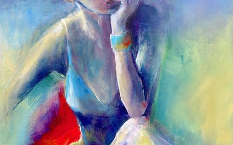 Schilderij door Ammie Elling.