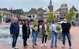 Arjan Rosenboom, Manon Weijdema, de prijswinnaressen Ellen Mom, Wilma Groen, Inge Koning en Gerard Bennen.