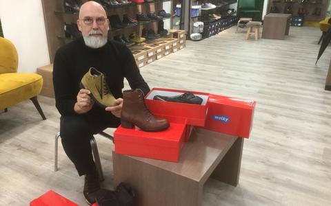 Gerard Bennen heeft veel keuze met Wolky schoenen.
