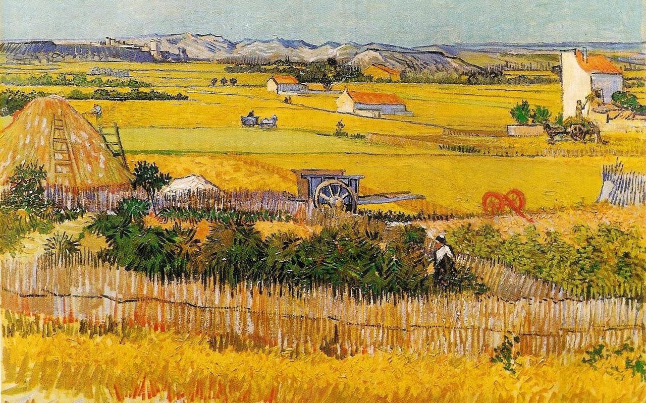 Het schilderij ' De Oogst' van Vincent van Gogh.
