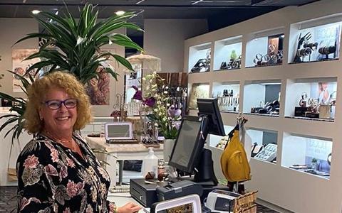 Diane Lap in haar vernieuwde winkel Purple.