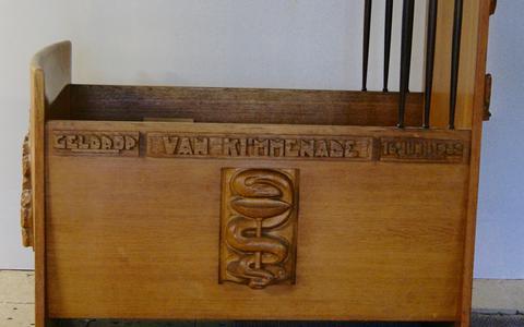 De door Krop ontworpen wieg voor de familie Van Kimmenade.