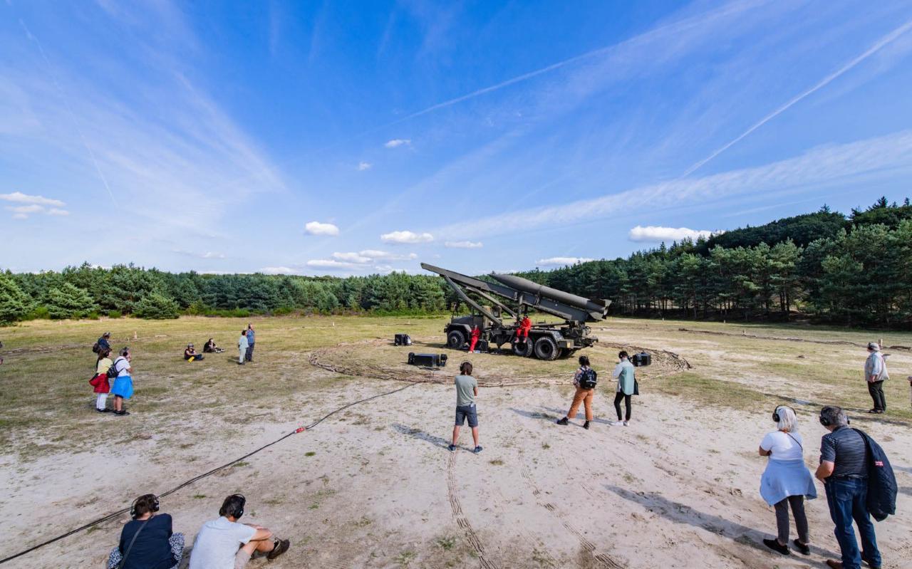 De Honest John raket; de kernkoppen daarvoor lagen opgeslagen in Havelterberg.